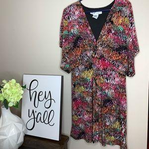 Maggy London Women's Multicolored V-Neck Dress